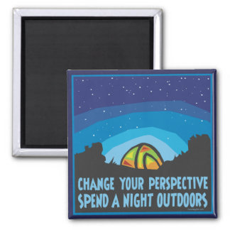Tent Camping 2 Inch Square Magnet