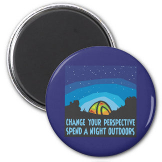 Tent Camping 2 Inch Round Magnet