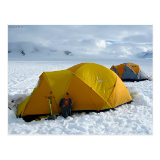 Tent Camping on the Juneau Icefield, Alaska Postcard