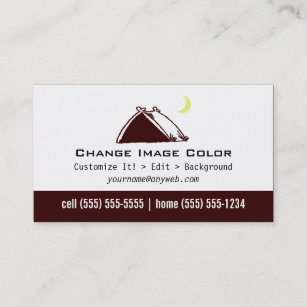 Camping Tent Business Cards Zazzle