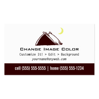 Tent business cards templates zazzle for Tent business cards
