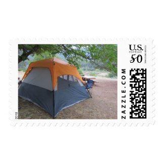 Tent Camping Stamp
