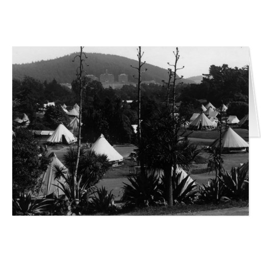 Tent City, 1906 - notecard