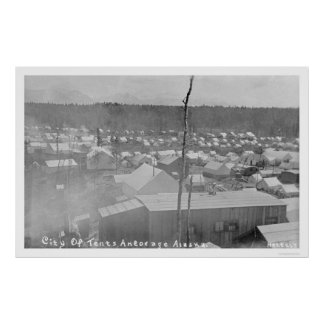 Tent City Anchorage, Alaska 1905 Poster