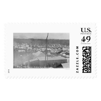 Tent City Anchorage, Alaska 1905 Stamp