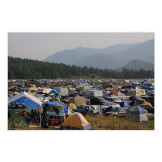 Tent City at Shambhala Poster