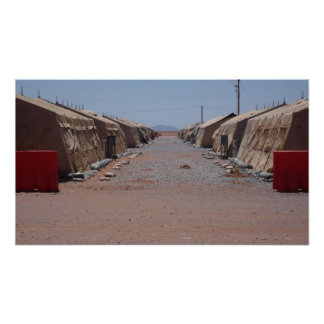 Tent City - Ft. McGregor, New Mexico Poster