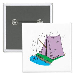Tent Fishing Pinback Buttons