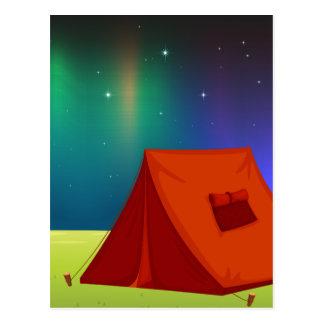 tent house postcard