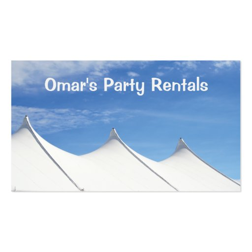 Tent rental business card zazzle for Tent business cards