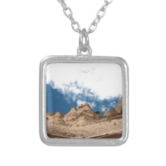 Tent Rocks Mountains New Mexico Silver Plated Necklace