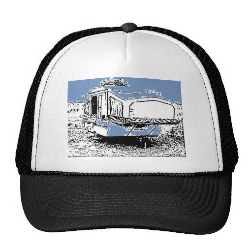 Tent Trailer on Blue Trucker Hat