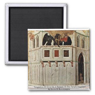 Tentación de Cristo en un pináculo del templo Imán Cuadrado