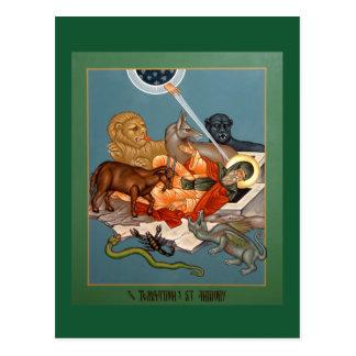 Tentación de la tarjeta del rezo de St Anthony Tarjeta Postal
