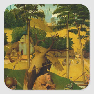 Tentación de St Anthony, 1490 Pegatina Cuadrada