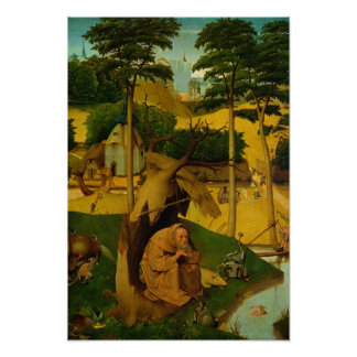 Tentación de St Anthony, 1490 Póster