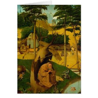 Tentación de St Anthony, 1490 Tarjeta De Felicitación
