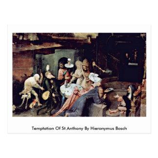 Tentación de St Anthony de Hieronymus Bosch Tarjeta Postal