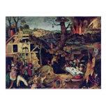 Tentación de St Anthony de Huys Pedro Postal