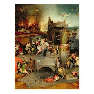Tentación de St Anthony Tarjetas Postales