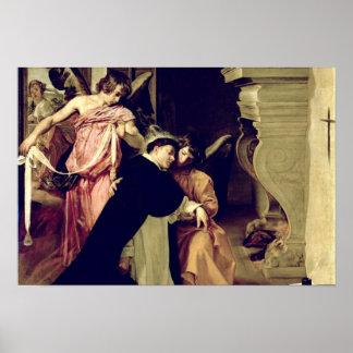 Tentación de St Thomas Aquinas Póster