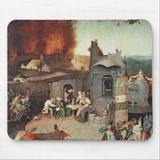 Tentación San Antonio, c.1500 Tapetes De Ratones