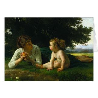 Tentación, William-Adolphe Bouguereau Tarjeta De Felicitación