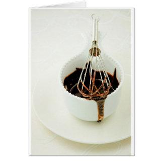 Tentaciones del chocolate tarjeta de felicitación