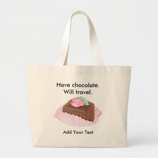 Tentaciones dulces bolsa lienzo
