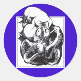 Tentacle Beast Classic Round Sticker