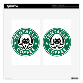 Tentacle Coffee Decals For Kindle Fire