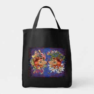 Tentacle Grocery Tote Dark Grocery Tote Bag