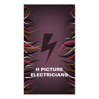 Tentacle Hall Electrician's Vert. Business Card