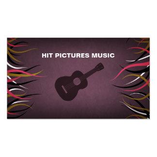 Tentacle Hall Guitar Musician Band Card Design Business Card