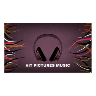 Tentacle Hall Musician Deejay Headphones Cards V2 Business Card