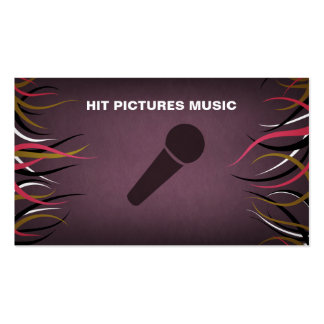Tentacle Hall Musician Deejay Vocalist Horizontal Business Card