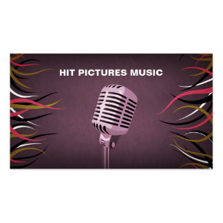 Tentacle Hall Musician Deejay Vocalist Mic Business Card