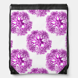 Tentacle Section in Bright Pink Drawstring Bag