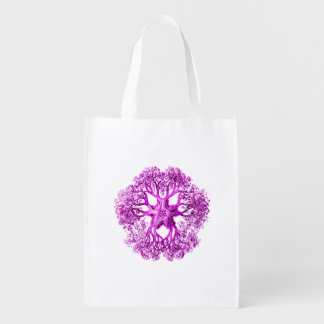 Tentacle Section in Bright Pink Reusable Grocery Bag