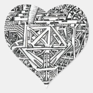 Tentacle Tank by Brian Benson Heart Sticker