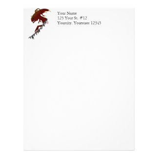 Tentacled and Horned Alien Ripping Through Letterhead