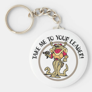Tentacled Take Me To Your Leader! Basic Round Button Keychain