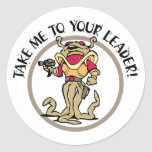 Tentacled Take Me To Your Leader! Classic Round Sticker