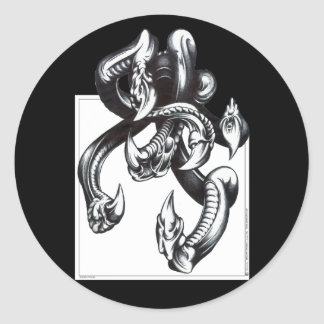 Tentacles Classic Round Sticker