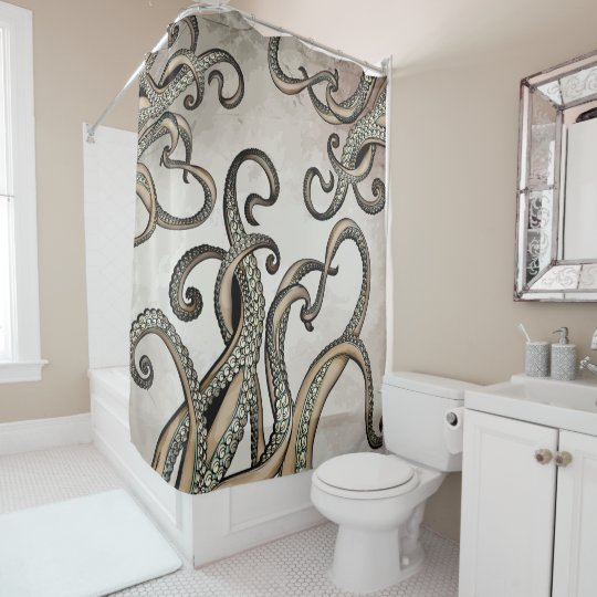 Tentacles Kraken Sea Monster Shower Curtain