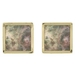 Tentacles of the Tarantula Nebula Gold Finish Cufflinks