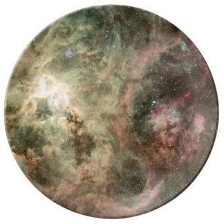 Tentacles of the Tarantula Nebula Porcelain Plate