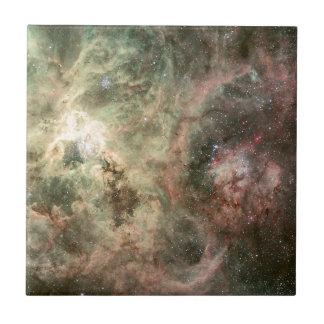 Tentacles of the Tarantula Nebula Small Square Tile