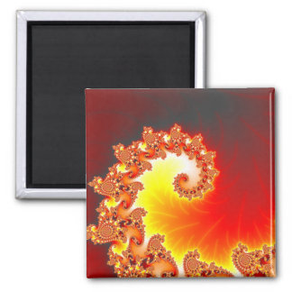 Tentáculo llameante - arte del fractal imán cuadrado