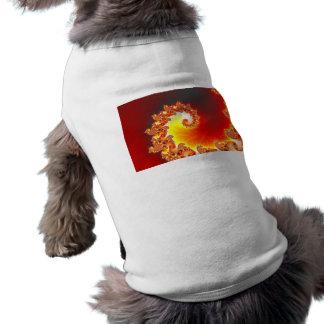 Tentáculo llameante - arte del fractal camisa de perro